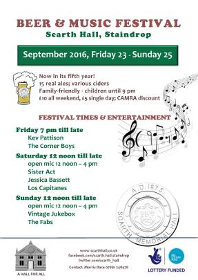 Staindrop Beer & Music Festival